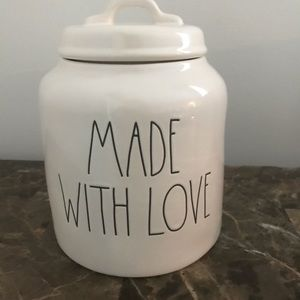 Rae Dunn Made with love Canister